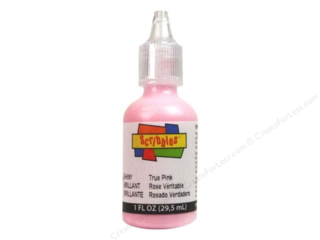 Scribbles 3D Fabric Paint 1 oz. Shiny True Pink
