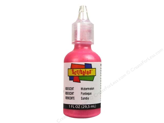 Scribbles 3D Fabric Paint 1 oz. Iridescent Watermelon