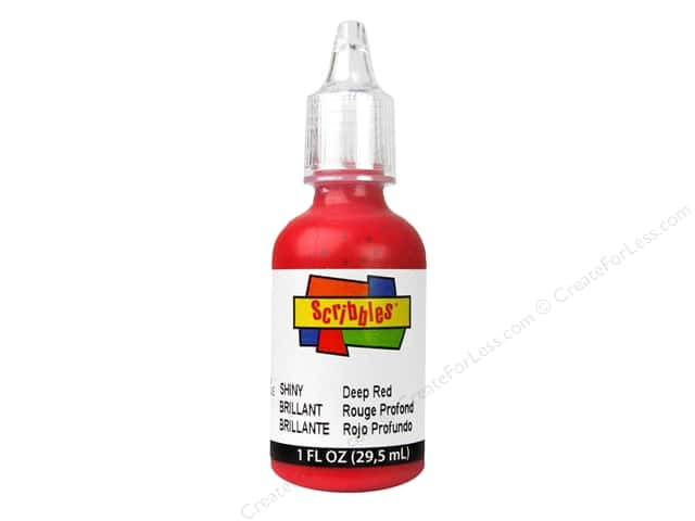 Scribbles 3D Fabric Paint 1 oz. Shiny Deep Red