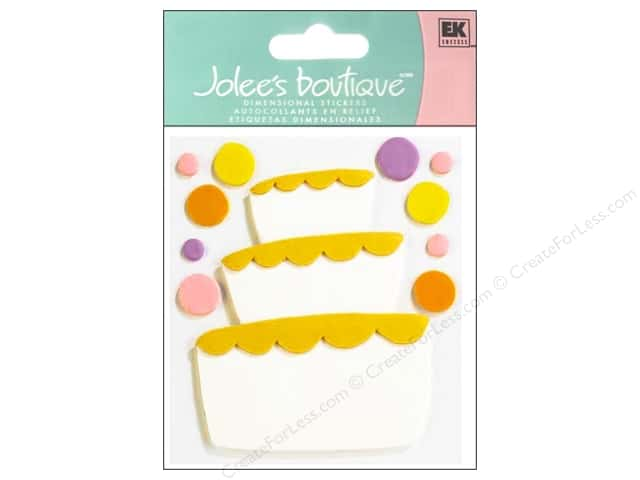 Jolee's Boutique Stickers Confection Fondant Tier Cake