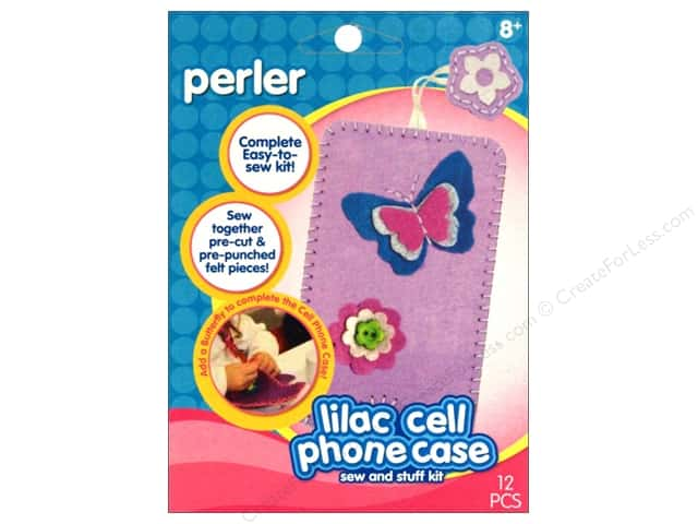 Perler Sew & Stuff Kit Cell Phone Case Lilac