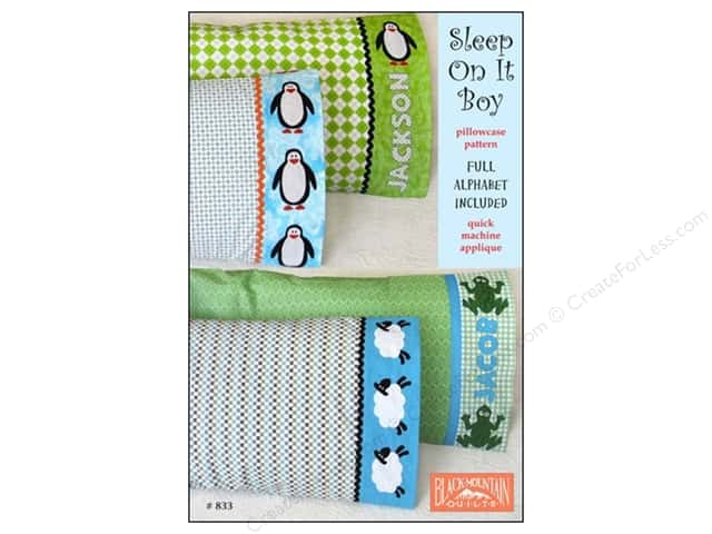Black Mountain Quilts Sleep On It Boy Pillowcase Pattern