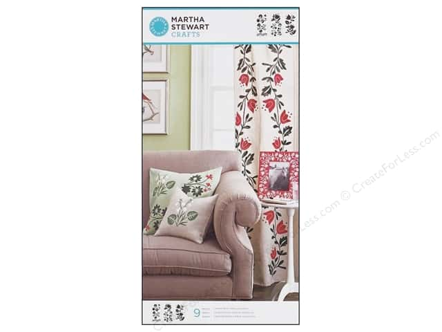Martha Stewart Stencils by Plaid Foxglove Large