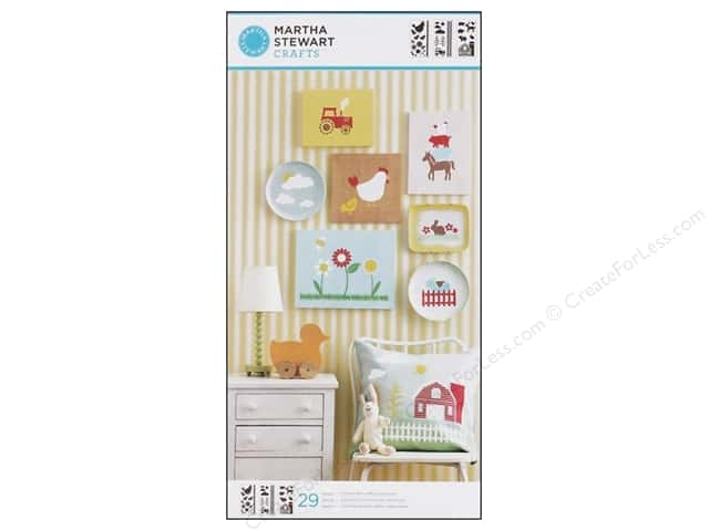 Martha Stewart Stencils by Plaid On the Farm Large