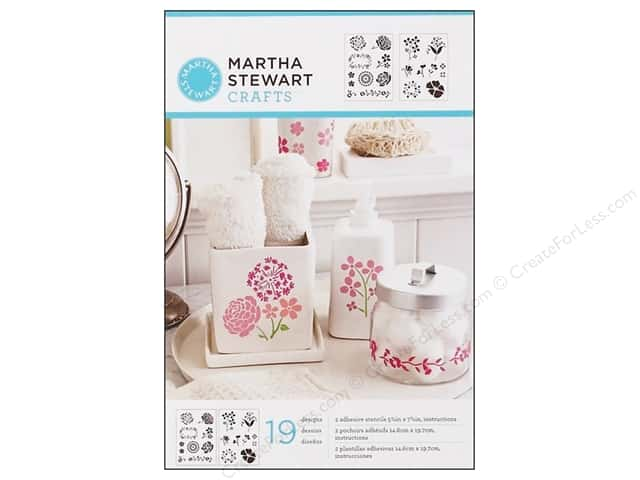 Martha Stewart Stencils by Plaid Adhesive Blossoms