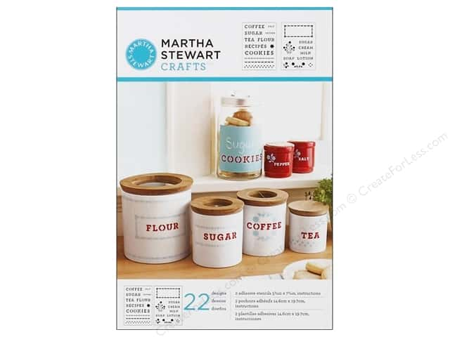 Martha Stewart Stencils by Plaid Adhesives Kitchen Labels