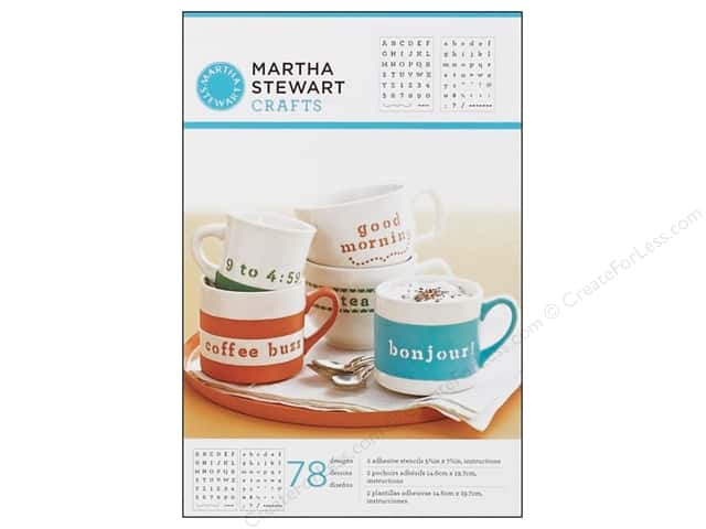 Martha Stewart Stencils by Plaid Adhesive Typewriter