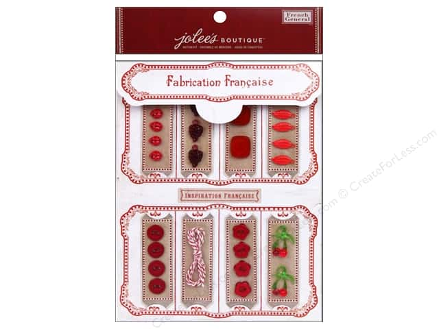Jolee's Boutique French General Notion Kit Red