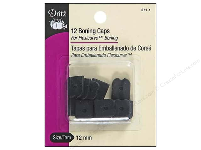 Dritz Boning Caps Black 12pc