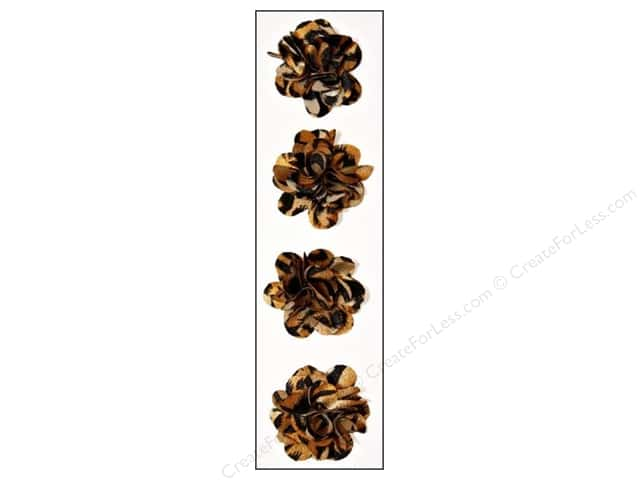 Mark Richards Sticker Fleurettes Flower Animal Tiger