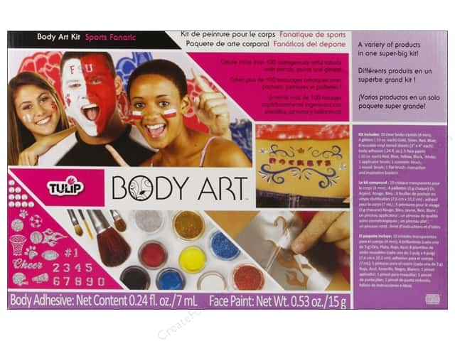 Tulip Body Art Kit Paint & Glitter Sports Fanatic