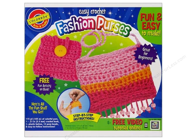 Colorbok Arts & Crafts Crochet Purse & Accessory