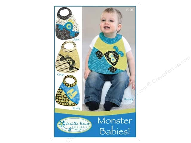 Vanilla House Monster Babies Bibs Pattern