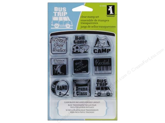 Inkadinkado InkadinkaClings Clear Stamp Inchies Bundle Mini Van Mom