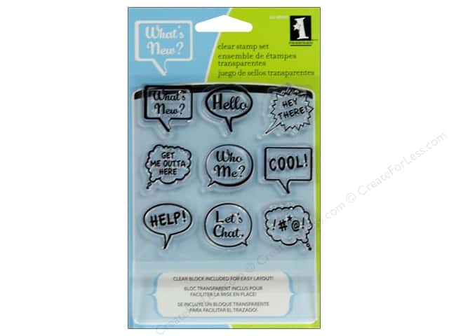 Inkadinkado Clear Stamp Inchies Bundle Talk Bubbles