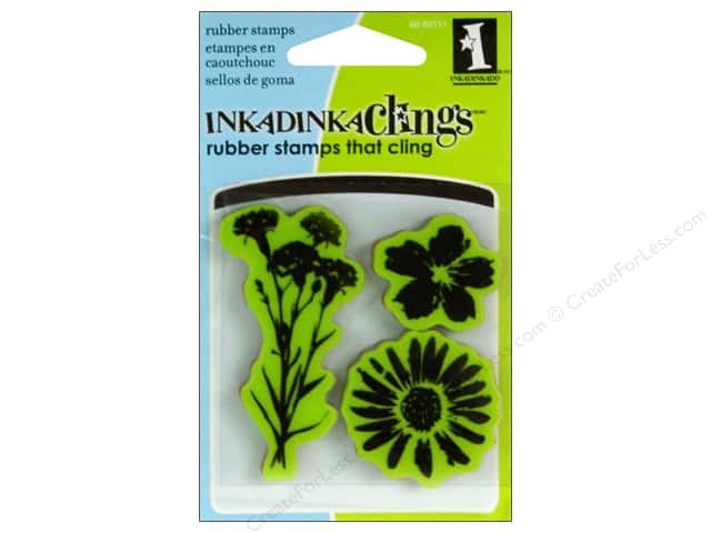 Inkadinkado Stamp Inkadinkaclings Mini Meadow Flowers