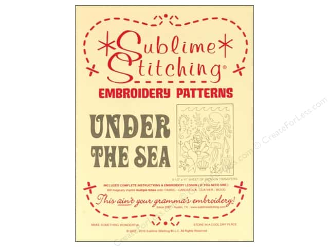 Sublime Stitching Transfer Under The Sea Pattern