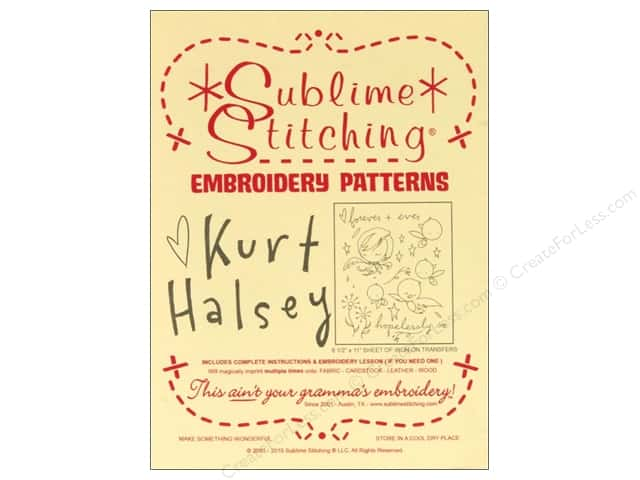 Sublime Stitching Embroidery Transfers Kurt Halsey