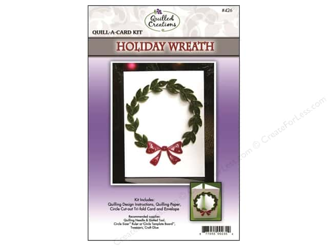 Quilled Creations Quilling Kit Quill-A-Card Holiday Wreath