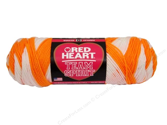 Red Heart Team Spirit Yarn #0984 Orange/White