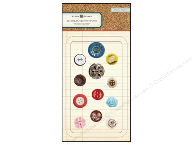 Crate Paper Buttons Story Teller Eclectic
