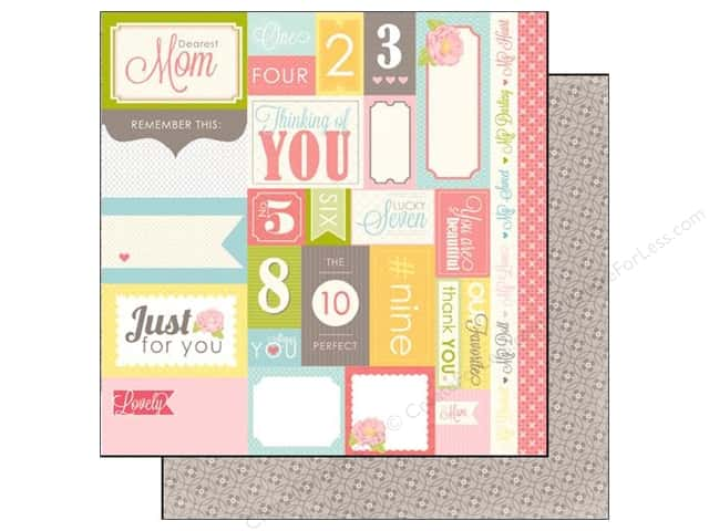Echo Park 12 x 12 in. Paper Dearest Collection Journaling Card (15 pieces)