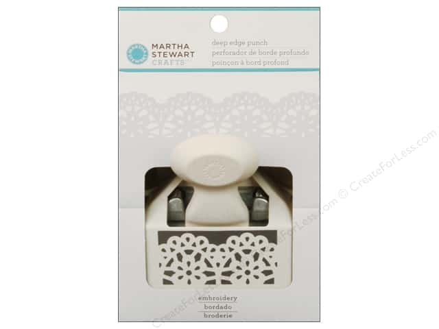 Martha Stewart Punch Deep Edge Embroidery