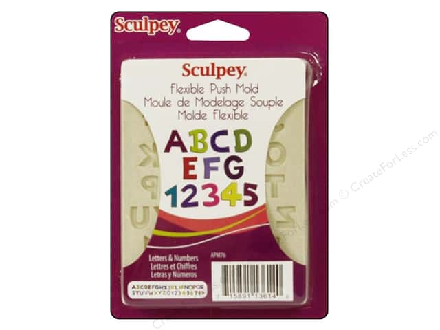Sculpey Flexible Push Mold Letter & Numbers (2 sets)
