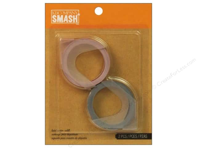 K&Company Smash Label Maker Refill Red/Black 2pc