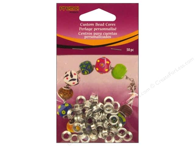 Premo Jewelry Finding Polyform Bead Cores 50pc