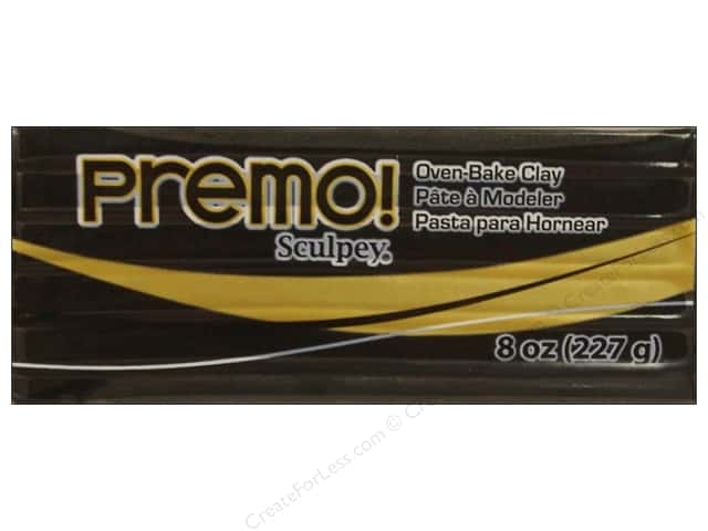 Premo! Sculpey Polymer Clay 8 oz. Black