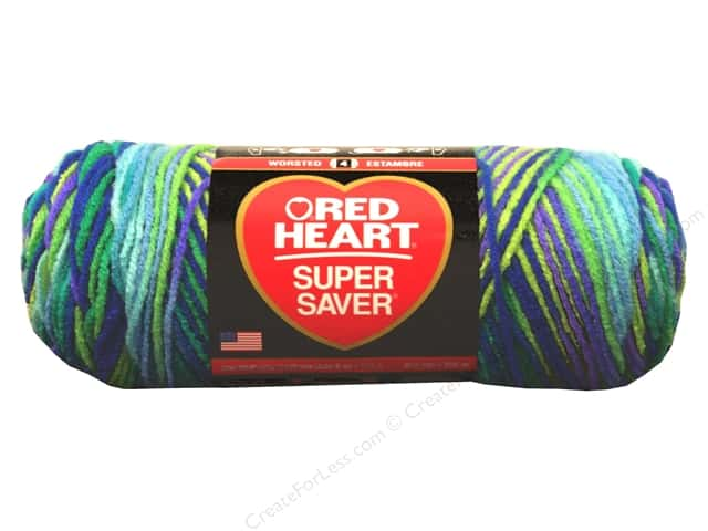 Red Heart Super Saver Yarn #3955 Wildflower 244 yd.