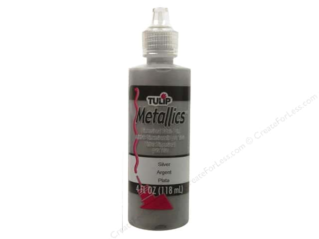 Tulip Dimensional Fabric Paint 4 oz. Metallic Silver