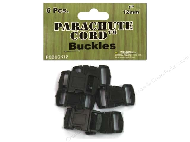 Pepperell Parachute Cord Buckle 1/2 in. 6 pc.