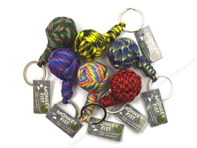 Pepperell Parachute Cord Accessories Monkey Fist Key Chain Assorted