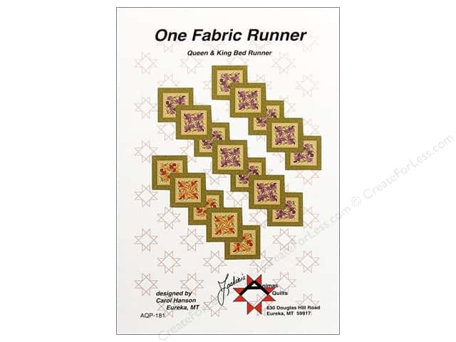 Anima's One Fabric Runner Pattern