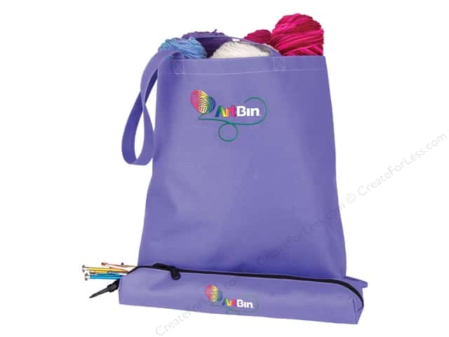 ArtBin Needle Arts Tote With Needle Case Periwinkle