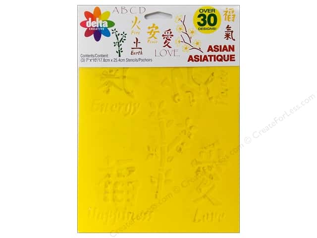Delta Stencil Mania Value Pack Asian 3 pc.