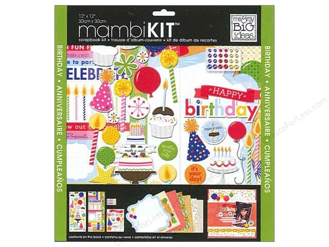 "Me&My Big Ideas Kit Scrapbook 12""x 12"" Birthday Wish"