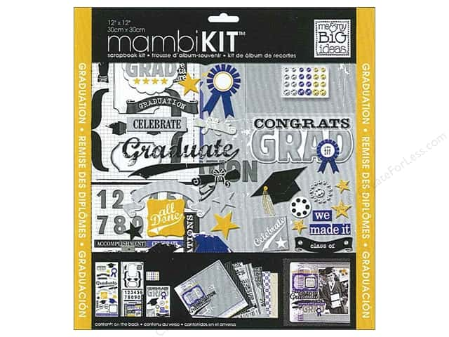 "Me&My Big Ideas Kit Scrapbook 12""x 12"" Congrats Grad"