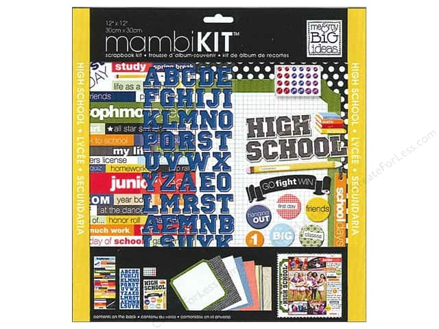 "Me&My Big Ideas Kit Scrapbook 12""x 12"" High School"