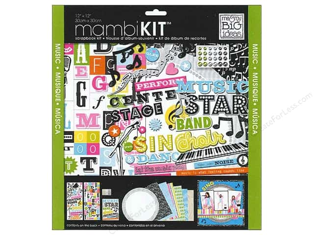 "Me&My Big Ideas Kit Scrapbook 12""x 12"" Music Star"