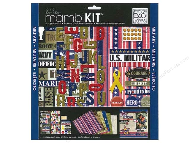 "Me&My Big Ideas Kit Scrapbook 12""x 12"" US Military"
