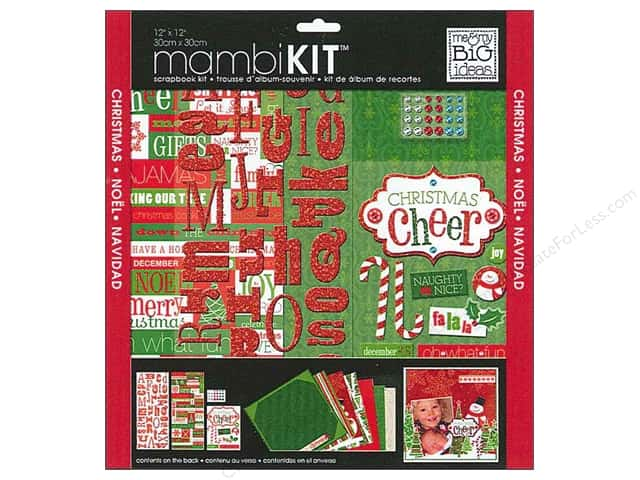 "Me&My Big Ideas Kit Scrapbook 12""x 12"" Christmas Cheer"