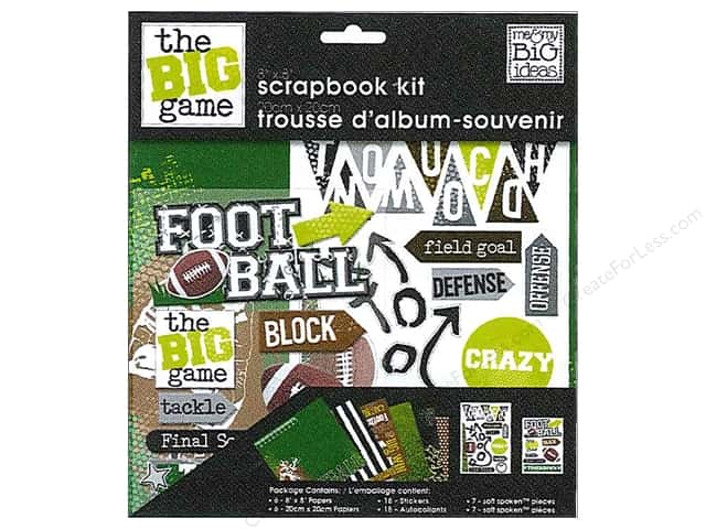 "Me&My Big Ideas Kit Scrapbook 8""x 8"" Football"
