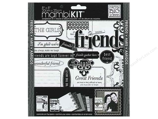 "Me&My Big Ideas Kit Scrapbook 8""x 8"" LBD Friends"