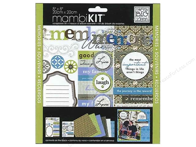 "Me&My Big Ideas Kit Scrapbook 8""x 8"" Sophisticated Memories"