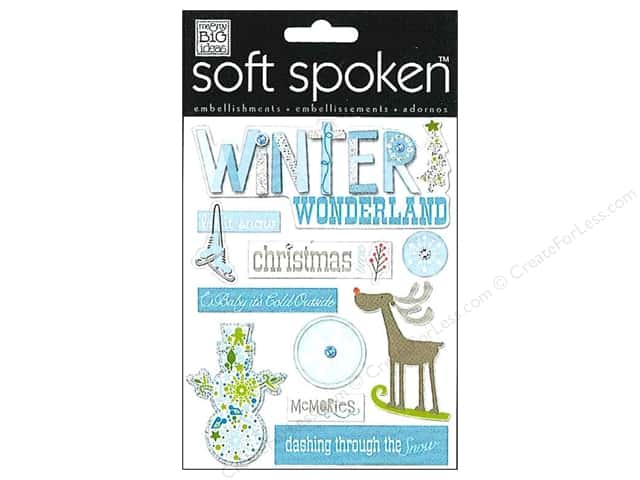 Me&My Big Ideas Sticker Soft Spoken Blue Winter Wonderland