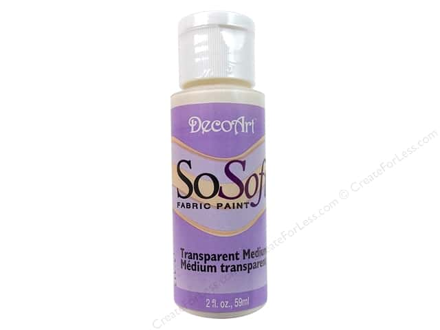 DecoArt SoSoft Fabric Paint #1 Transparent 2 oz.