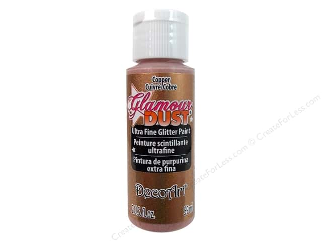 DecoArt Glamour Dust 2oz Copper